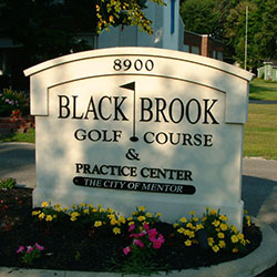 Black Brook Sign at Entryway